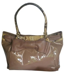 Valentino Bow Calf Leather Skin Shoulder Bag