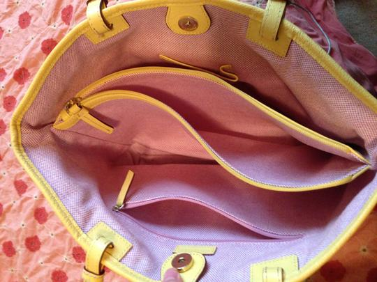 Dooney & Bourke Leather Tote in yellow