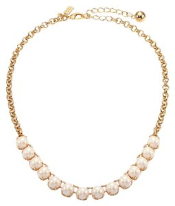Kate Spade Kate Spade Squared Away Gold Pearl Necklace