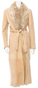 Ralph Lauren Shearling Suede Fur Long Fur Coat