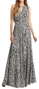 Black/White Print Maxi Dress by Rachel Pally Stretch Maxi Keyhole Full Skirt