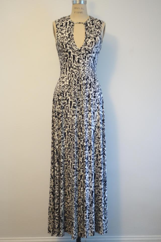 Pally Neck Rachel Dress Small 'graffiti' Maxi White Print Black Isadora Cutout Casual f7xw7q