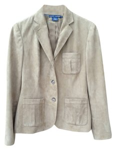 Ralph Lauren Suede Safari Beige Leather Jacket