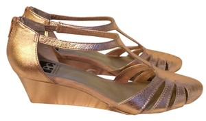 BC Because Music is my Heartbeat Metallic Pink Wedges