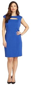 Kay Unger short dress royal blue on Tradesy