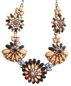 J.Crew J crew flowers Statement Necklace baby blue coral