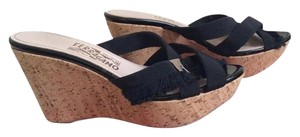 Salvatore Ferragamo Cork Sandal Black Wedges