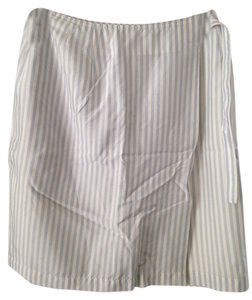 renoma PARIS femme Skirt Blue White Stripe