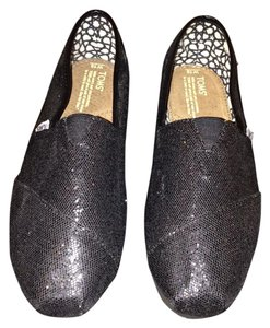 TOMS Never Been Worn New With Tags Black Glitter Flats