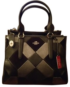 Coach Black Quilted Square Shaped Satchel