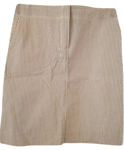 J.Crew Skirt Brown White Stripe