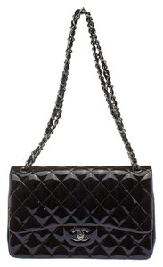 Chanel Quilted Patent Leather Shoulder Bag