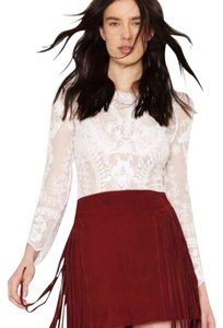 Nasty Gal Mini Skirt Burgundy
