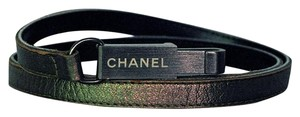 Chanel Vintage CHANEL Skinny Belt w/Logo Engraved Lobster Clasp