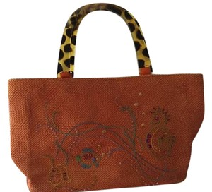 Andrea Stuart Made In New York Handbag Tote in Orange