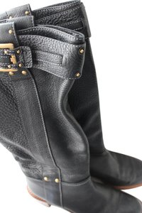 Chloé Chloe Leather Equestrian Black Boots