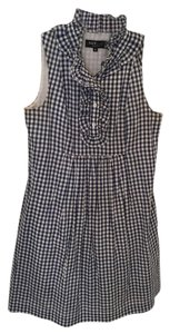 A.B.S. by Allen Schwartz short dress Blue Gingham Ruffle Sleeveless on Tradesy