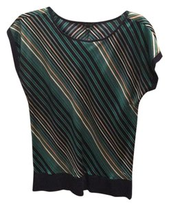Ann Taylor Top Blues and greens
