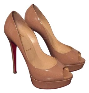 Christian Louboutin Nude Patent Leather Platforms