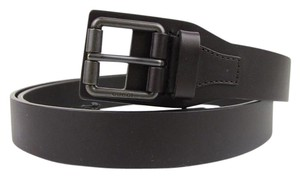 Gucci Dark Brown Leather Belt with Square Metal Buckle 85/34 353474 2140