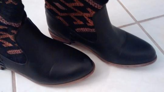 Other Black with Orange and Gold Pattern Boots