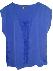 Urban Outfitters Sparkle And Fade Wear To Work Night Out Nice Lace Top Royal Blue