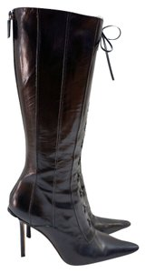 Jimmy Choo Vita Leather Black Boots