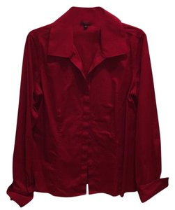 Talbots Button Down Shirt Deep red