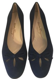 Salvatore Ferragamo Navy black Flats