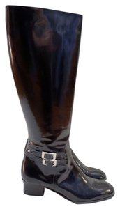 Cole Haan Patent Leather Black Boots