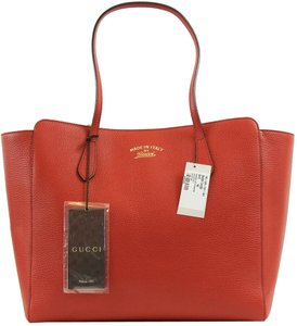 Gucci 354397 Leather Tote in Red