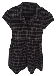 Anthropologie Structured Empire Waist Plaid Dress