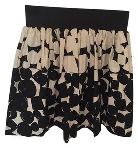Anthropologie Empire Waist Skirt Black and Cream