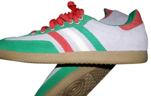 adidas Custom Red/green Tan Taupe Suede Tan-Green-Red Athletic