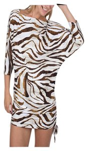 Simply Sole Black & Brown Safari Sari Cover-Up