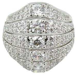 Victoria Wieck Victoria Wieck 3.1ct Absolute 6-Row Pave' Sterling Silver Dome Ring - Size 5