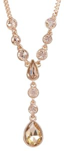 Givenchy Swarovski elements rose crystals sets in rose gold tone necklace