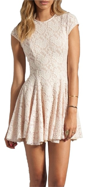 Item - Pink Cristal Lace Above Knee Short Casual Dress Size 0 (XS)