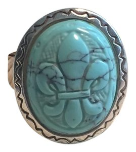 Other Turquoise Fleur Di Lis Ring