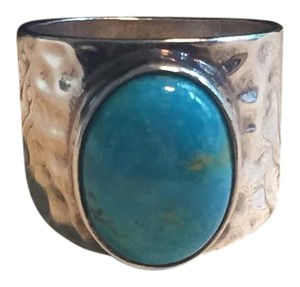 Genuine Turquoise Sterling Silver Statement Ring