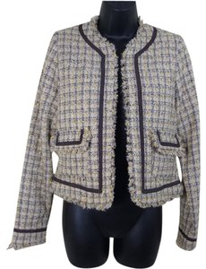True Meaning Woven Career Tan Gold Brown Blazer