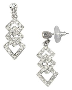 Macy's Deluxe Accessories Crystal Link Drop Earrings