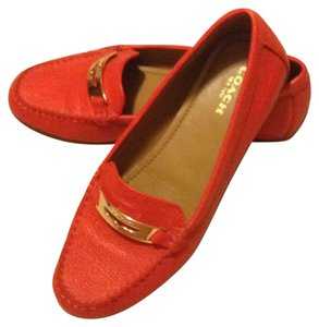 Coach Leather Hardware coral Flats