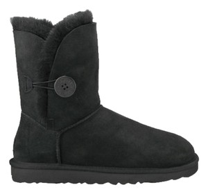 UGG Boots Comfy Gifts For Her Fur Ugg Bailey Bailey Button Black Boots