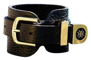 Rustic Cuff Genuine Leather Summer Black Buckle Leather Bracelet
