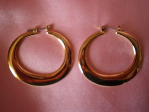 other New Gold Flat Hoop Earrings