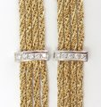 Tiffany & Co. Vintage 18k Gold Diamond Multi Strand Chain Necklace Tiffany & Co. Vintage 18k Gold Diamond Multi Strand Chain Necklace Image 3