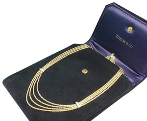 Tiffany & Co. Rare Vintage Tiffany & Co 18K Gold Diamond Multi Strand Chain Necklace 16-3/4