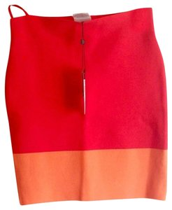 BCBGMAXAZRIA Joelle Bandage Skirt Red & Orange