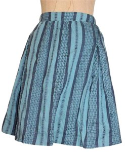 Anthropologie Striped Summer Elastic Skirt BLUE